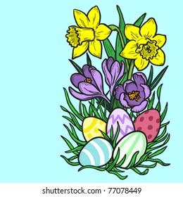 Easter flowers.