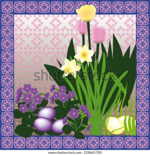 Easter Garden Card Design