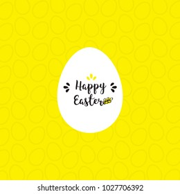 Easter holiday card with egg