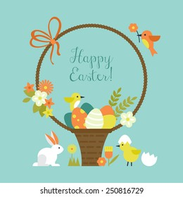 Easter holiday greeting card design