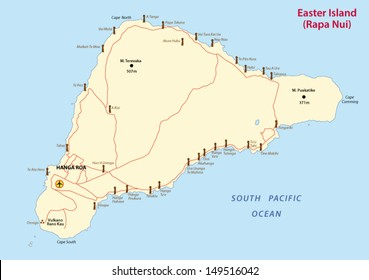 Easter Island Map Images Stock Photos Vectors Shutterstock