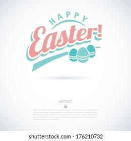 easter logo happy banner egg vector modern minimalistic vector happy easter card easter logo happy banner egg vector vacation holiday new modern fresh smiling beauty flag laughing letterhead graphic g