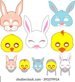 Easter Mask Set for Kids