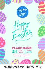 Easter Poster Flyer Background
