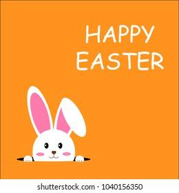 easter rabbit, easter bunny, vector illustrator.