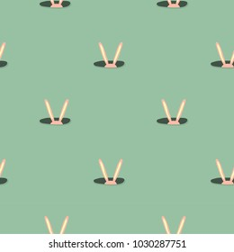 Easter rabbit ears mininalistic pattern