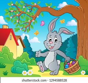 Easter rabbit thematics - eps10 vector illustration.