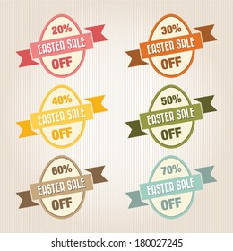 Easter Sale Text, Vintage Style
