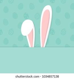 easter background bunny ears copyspace vector stock vector royalty