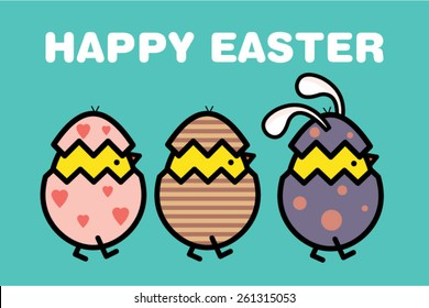 easter template vector/illustration