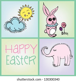 Easter Vector Card