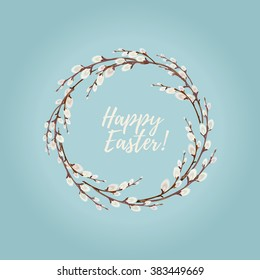 Easter Wreaths with Willow Branches