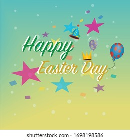 Easter Yellow Green Decoration Background