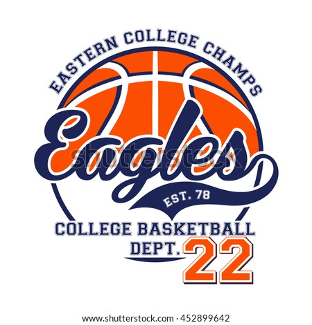 6b25582ac Eastern College Champs Vector Tshirt Design Stock Vector (Royalty ...