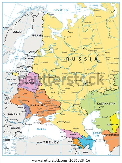 Eastern Europe Political Map Isolated On Stock Vector ... on topological map of eastern europe, geography map of eastern europe, geopolitical map of central europe, geological map of eastern europe, tactical map of eastern europe, history map of eastern europe, ethnic map of eastern europe, ecological map of eastern europe, strategic map of eastern europe,