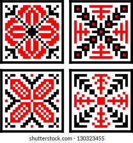 Eastern European Geometrical Folk Pattern