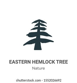 Eastern hemlock tree vector icon on white background. Flat vector eastern hemlock tree icon symbol sign from modern nature collection for mobile concept and web apps design.