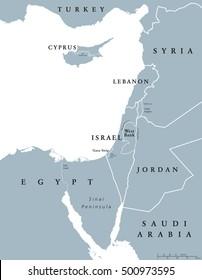 Suez Canal Political Map Artificial Sealevel Stock Vector (Royalty ...