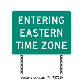 Eastern Time Zone road sign