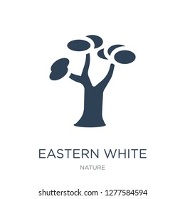 eastern white pine tree icon vector on white background, eastern white pine tree trendy filled icons from Nature collection, eastern white pine tree vector illustration