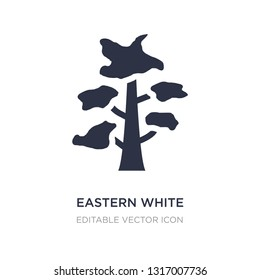 eastern white pine tree icon on white background. Simple element illustration from Nature concept. eastern white pine tree icon symbol design.