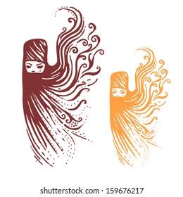 Eastern Women Vector illustration