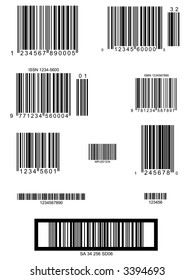 Easy Barcode Collection - layout presentation utility - Vector