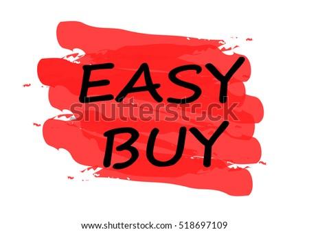 Easy Buy Vector Card Stock Vector Royalty Free 518697109