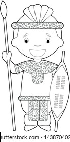 zulu dancer coloring pages - photo#8