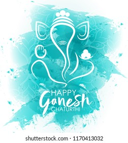 Easy to edit vector design abstracts for Indian festival Ganesh chaturthi.