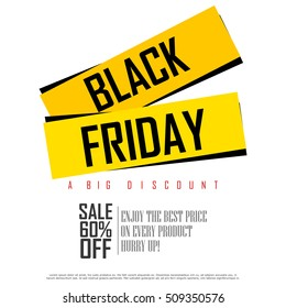 easy to edit vector illustration of Black Friday Sale and Promotion offer banner