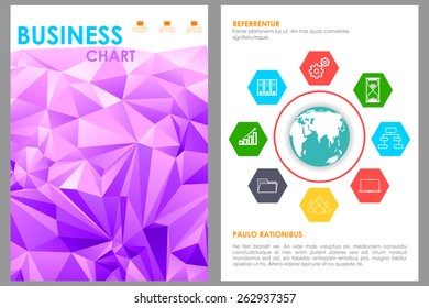 easy to edit vector illustration of business brochure design
