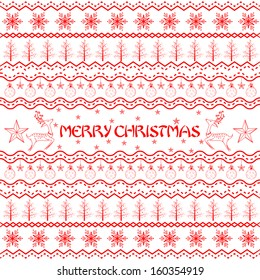 easy to edit vector illustration of Christmas Decoration Boarder