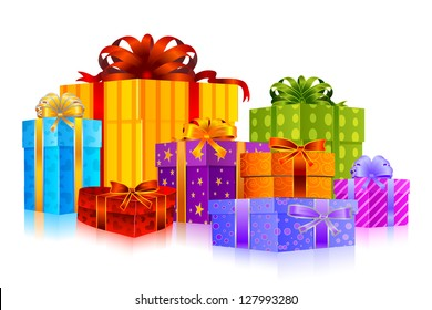 easy to edit vector illustration of colorful gift