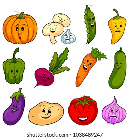 easy to edit vector illustration of different variety of fresh vegetables