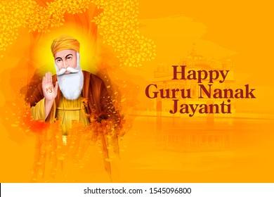 easy to edit vector illustration of Guru Nanak Jayanti, religious festival of Sikh