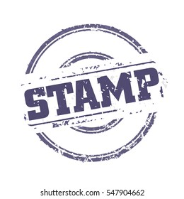 Easy edited template rubber stamp, just swap STAMP on your text. Vector illustration.