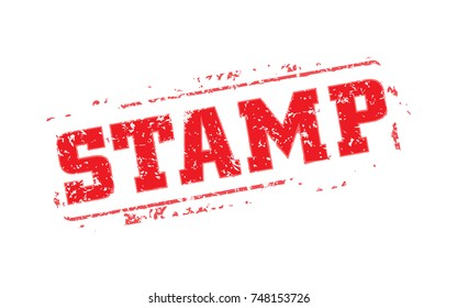 Easy edited template rubber stamp. Just swap STAMP for your text. Vector illustration.