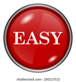 Easy icon. Internet button on white background.
