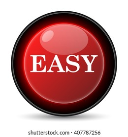 Easy icon. Internet button on white background. EPS10 vector