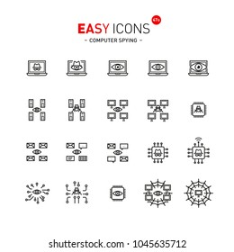Easy icons 47a Computer spying