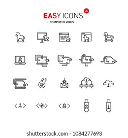 Easy icons 49a Computer virus