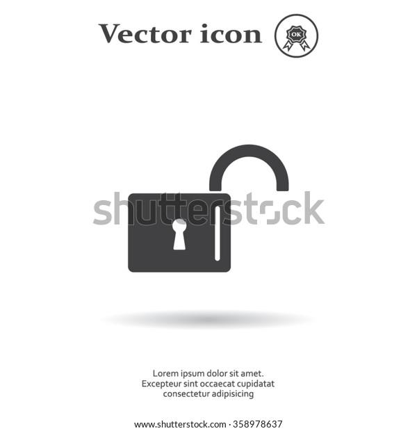 Easy open lock icon.
