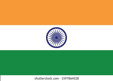 easy to reuse  illustration vector image of India flag with perfect color code