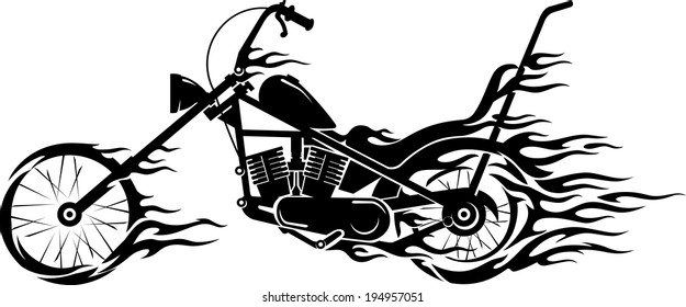 Motorcycle Flames Images, Stock Photos & Vectors | Shutterstock