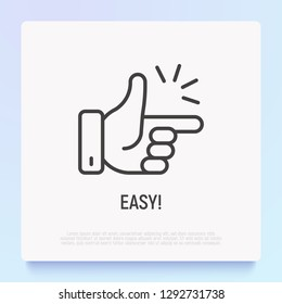 Easy symbol, shap gingers. Thin line icon. Modern vector illustation.