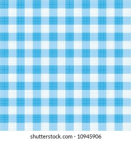 Easy tilable (you see 4 tiles) blue gingham repeat pattern (print, seamless background, wallpaper) with fabric texture ( for high res JPEG or TIFF see image 10945567 )