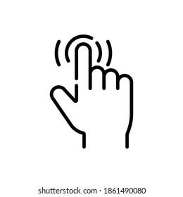 Easy Use Gesture Line Icon Isolated On White Background