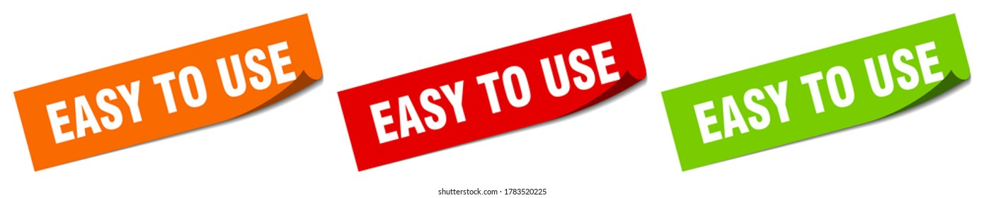 easy to use sticker. easy to use square isolated sign