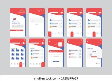 Easy Way Storage Management App UI Kit Template